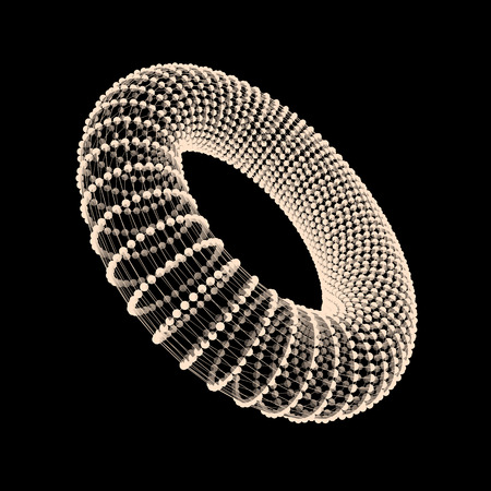 torus: Torus. The Torus Consisting of Points. Connection Structure. Torus Shape Wireframe. 3D Grid Design. A Glowing Grid. 3D Technology Style. Network Design. Molecular lattice. Cyberspace Grid. Illustration