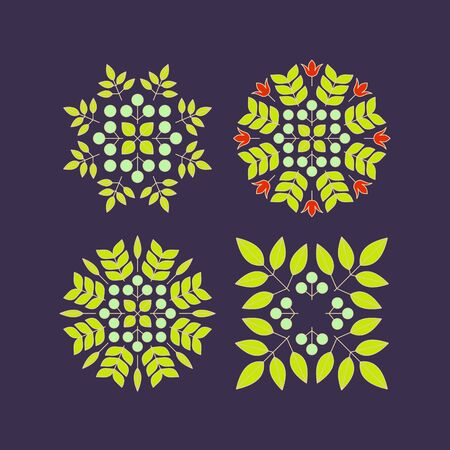 floral elements: Vector Floral Elements. Vector Printing for Natural Products. Linear Style. Abstract vector illustration.