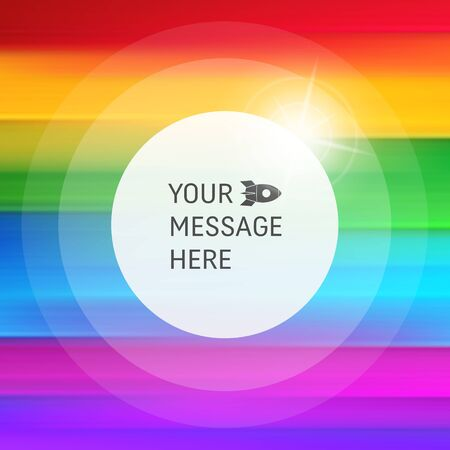 polychromatic: Abstract rainbow background. Striped colorful pattern. Abstract background with Place for Text. Vector background.