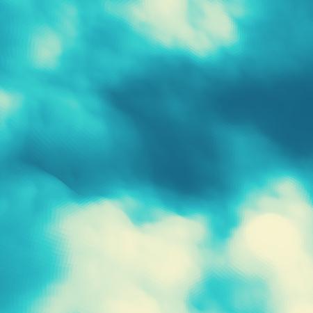 clouds blue sky: Blue Sky With Clouds.