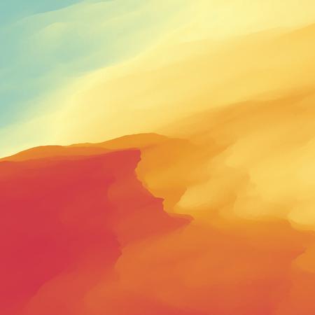 Abstract Desert Landscape Background.
