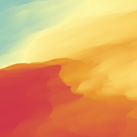 barren: Abstract Desert Landscape Background.
