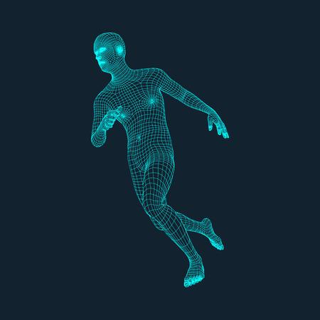 Running Man. Polygonal Design.