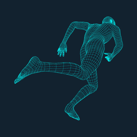 Running Man. Polygonal Design.