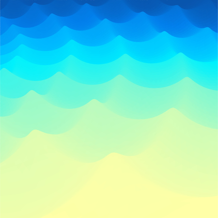 undulate: Background of Blue Waves.