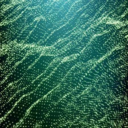 ripple wave: Wave Grid Background. Ripple Grid. Lattice Background. Abstract Vector Illustration. Cyberspace Grid. 3D Technology Style. Glowing Grid. Wireframe illustration with Dots. Network Design with Particle