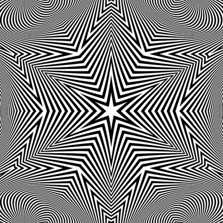microprint: Black and White Abstract Striped Background. Vector Illustration.