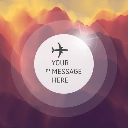 fond de texte: Abstract Background. Vector Illustration with Airplane. Circle with Place for Text.