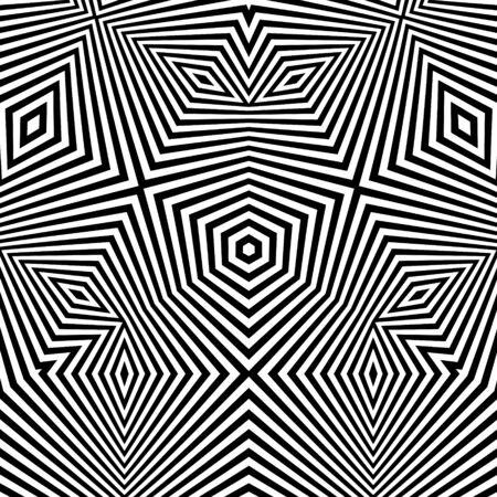 arte optico: Modelo Con la ilusión óptica. Resumen Antecedentes. Optical Art. Ilustración del vector 3d. Vectores