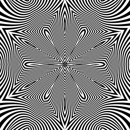 microprint: Black and White Geometric Pattern. Abstract Striped Background. Vector Illustration.