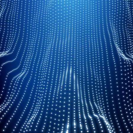 billowy: Wave Grid Background. Ripple Grid. Lattice Background. Abstract Vector Illustration. Cyberspace Grid. 3D Technology Style. Glowing Grid. Wireframe illustration with Dots. Network Design with Particle
