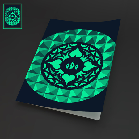 notebook design: Notebook Cover Template. Oriental Traditional Design. Vector Illustration.
