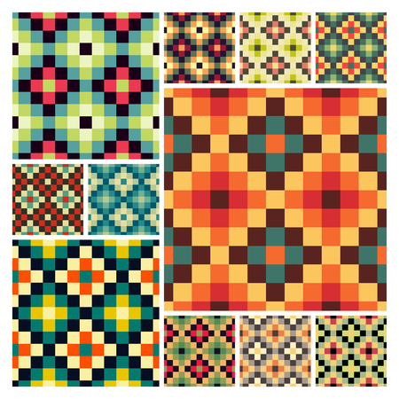 mosaic: Seamless mosaic pattern. Geometric background. Vector Illustration. Can be used for wallpapers, backgrounds, web sites. Collection for design.