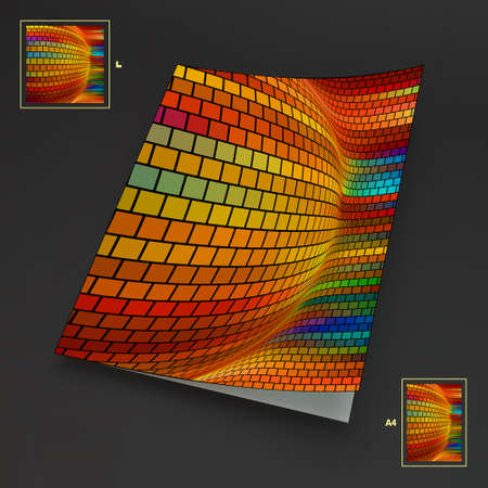 datebook: Colorful Textbook, Booklet or Notebook Mock-up. Vector Illustration.