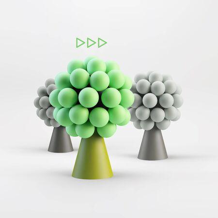 alliance: Business concept illustration. Leadership 3D vector illustration. Illustration