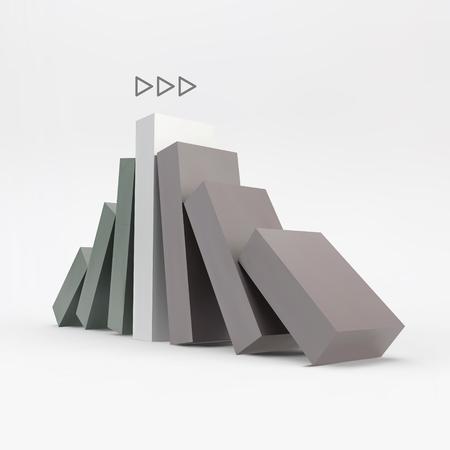 concerted: Business 3D Concept Illustration. Leadership Vector Illustration. Illustration