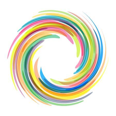 Dynamic Flow Illustratie. Swirl Achtergrond.