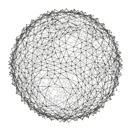 globe grid: Sphere with Connected Lines and Dots. Global Digital Connections. Globe Grid. Wireframe Sphere Illustration. Abstract 3D Grid Design. Glowing Grid. 3D Technology Style. Networks - Globe Design. Illustration