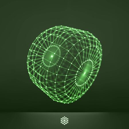 structures: Connection Structure. Wireframe Vector Illustration. Glowing Grid. Illustration