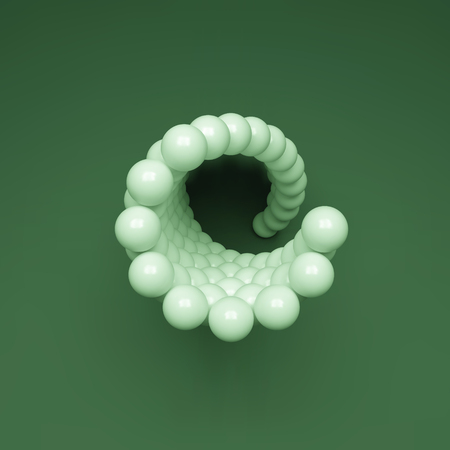 helical: 3d Spheres Composition.