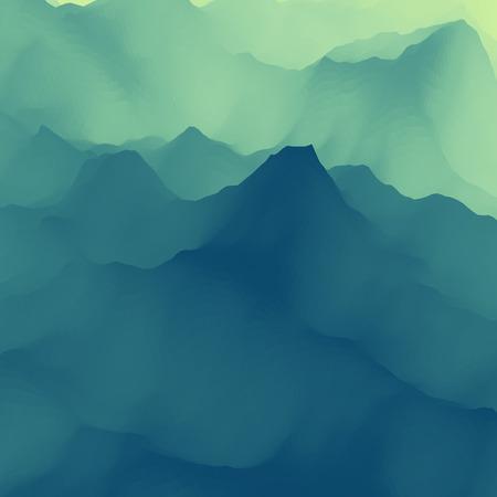dawning: Mountain Landscape.