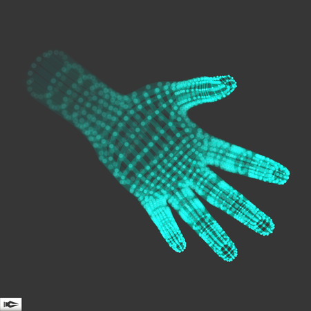 artificial: Human Arm. Human Hand Model. Hand Scanning. 3d Covering Skin