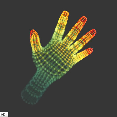 mesh: Human Arm. Human Hand Model. Hand Scanning. 3d Covering Skin
