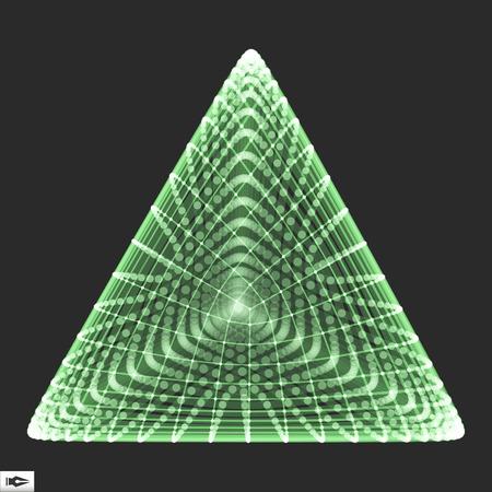 polyhedron: Pyramid. Regular Tetrahedron. Platonic Solid. Regular, Convex Polyhedron. 3D Connection Structure. Lattice Geometric Element for Design. Molecular Grid. Wireframe Mesh Polygonal Element. Illustration