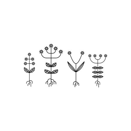flora: Flora Elements. Eco Sign. Vector Illustration. Vector Printing for Natural Products.