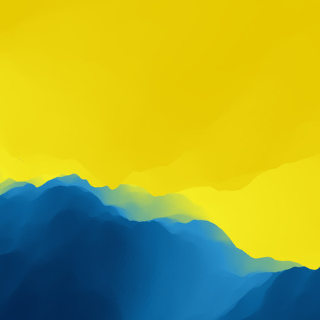 dawning: Mountain Landscape. Mountainous Terrain. Vector Backgrounds. Illustration