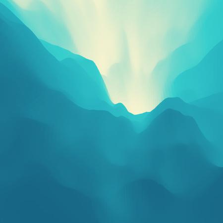 dawning: Mountain Landscape. Mountainous Terrain. Vector Backgrounds. Illustration