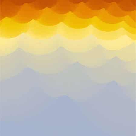 billowy: Wavy Background. 3d Abstract Vector Illustration. Design Template. Modern Pattern. Vector Illustration. Illustration