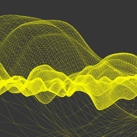 perspective grid: Wavy Grid Background. Abstract Vector Illustration. Connection Structure. Futuristic Technology Style. 3D Perspective Grid. Illustration