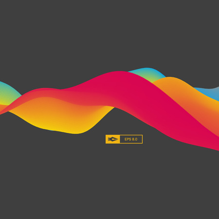 3D Wavy Background. Dynamic Effect. Abstract Vector Illustration. Design Template. Modern Pattern. 向量圖像