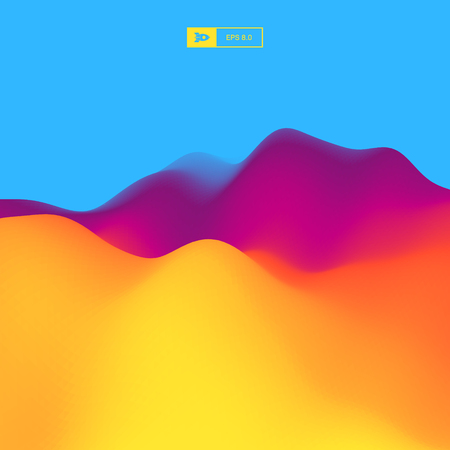 illustration abstract: Abstract Landscape Background. 3d Vector Illustration. Illustration