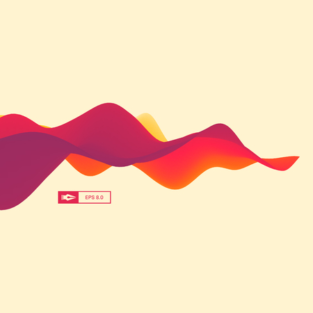 ripple effect: 3D Wavy Background. Dynamic Effect. Abstract Vector Illustration. Design Template. Modern Pattern. Illustration