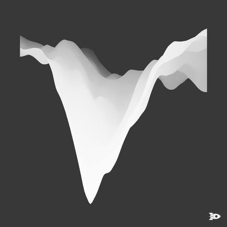 undulated: 3D Abstract Background. Futuristic Technology Style. Motion Illustration. Illustration