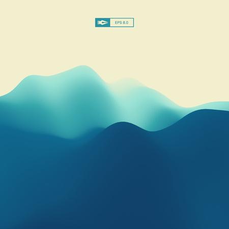 rocky mountain: Abstract Landscape Background. 3d Vector Illustration. Illustration