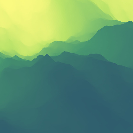 mountain sunset: Mountain Landscape. Mountainous Terrain. Mountain Design. Vector Silhouettes Of Mountains Backgrounds. Sunset. Can Be Used For Banner, Flyer, Book Cover, Poster, Web Banners.