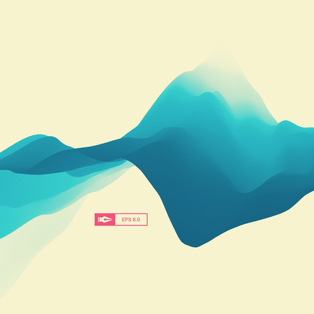 billowy: 3D Abstract Background. Dynamic Effect. Futuristic Technology Style. Motion Vector Illustration.