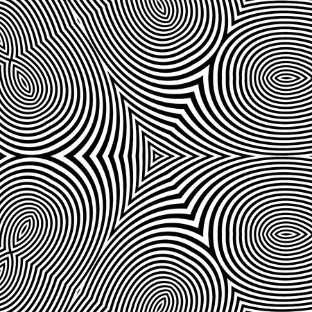 optical: Black and White Abstract Striped Background. Optical Art. 3d Vector Illustration.