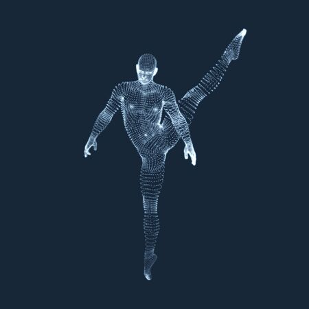 community health: Gymnast. Man. 3D Model of Man. Human Body Model. View of Human Body. Gymnastics Activities for Icon Health and Fitness Community. Illustration