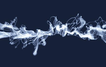 effets d'éclairage électrique. Tableau avec des particules dynamiques. 3d futuriste style de la technologie. Résumé Contexte. des points lumineux. Vector Illustration.