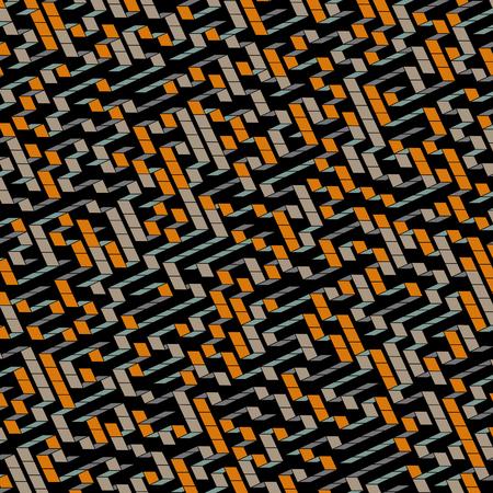 deadlock: Maze. Vector Illustration Of Labyrinth.