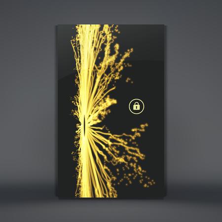 glowing skin: Modern Lock Screen for Mobile Apps. Mobile Wallpaper. Vector Illustration. Illustration