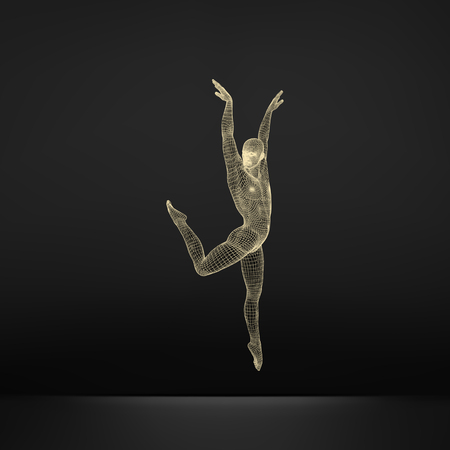 acrobat gymnast: Gymnast. 3D Model of Man. Human Body Model. Gymnastics Activities for Icon Health and Fitness Community.