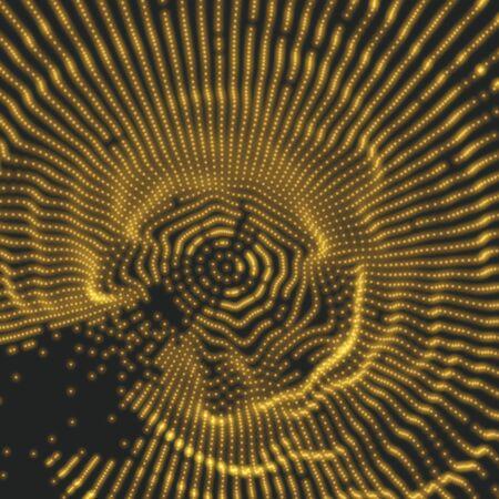 Spinneweb. Netwerk achtergrond. Verbindingsstructuur. 3D-technologie Style. Vector Illustratie met Particle. Stock Illustratie