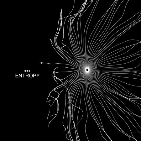 entropy: Array with Dynamic Particles. 3D Technology Style. Abstract Background. Vector Illustration. Illustration