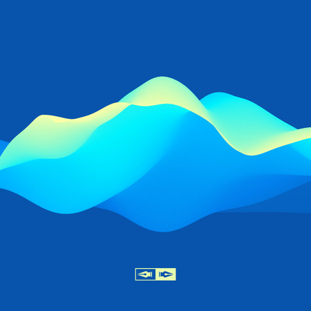 3D Wavy Background. Dynamic Effect. Abstract Vector Illustration. Design Template. Modern Pattern. Illustration