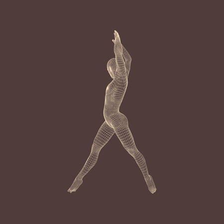 health and fitness: Gymnast. 3D Model of Man. Human Body Model. Gymnastics Activities for Icon Health and Fitness Community.